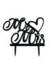 Mr&Mrs-met-hart-taarttopper-Zwart